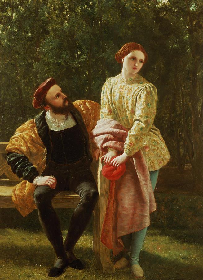 Orsino And Viola Painting
