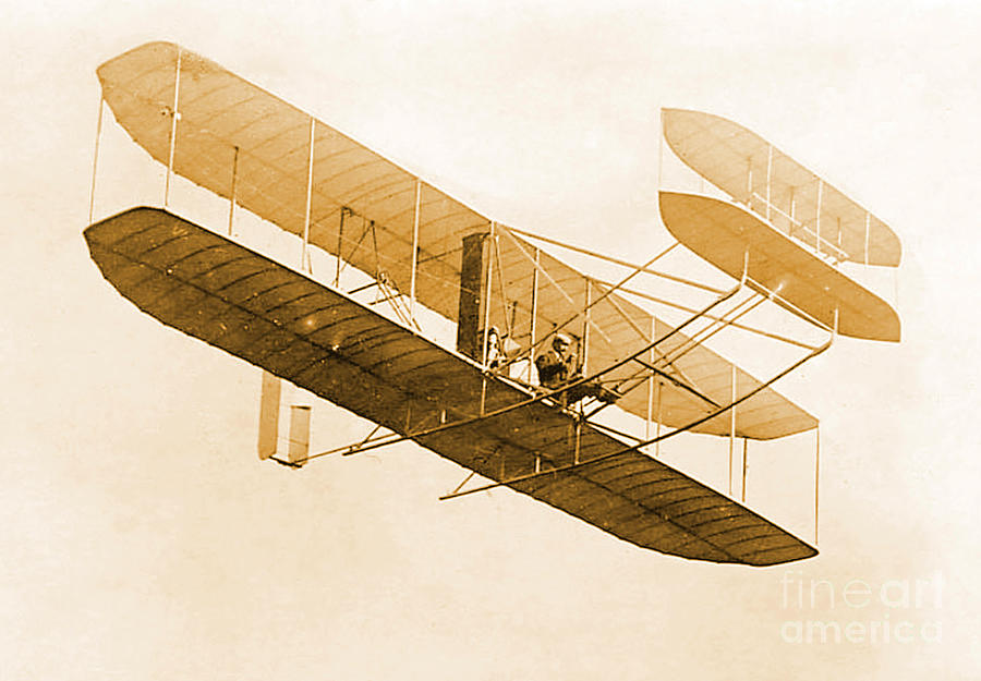 Orville Wright In Wright Flyer 1908 Photograph