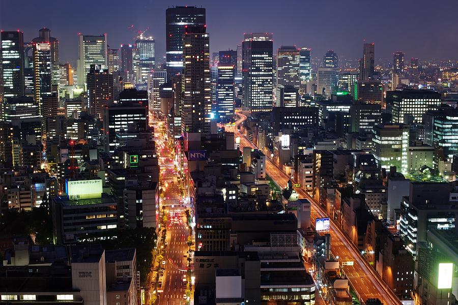 Osaka Night Scene Photograph  - Osaka Night Scene Fine Art Print
