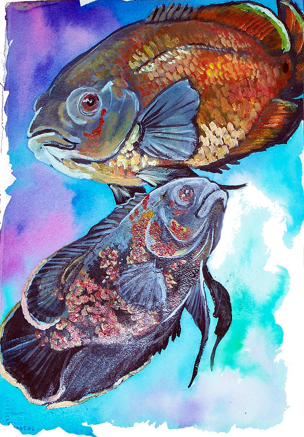 Oscar Fish Painting