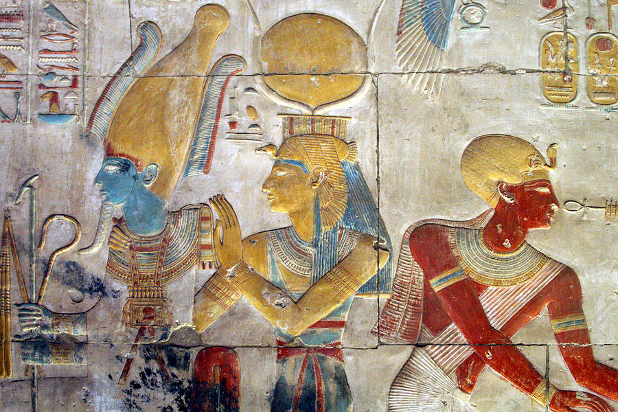 Osiris And Isis, Abydos Photograph