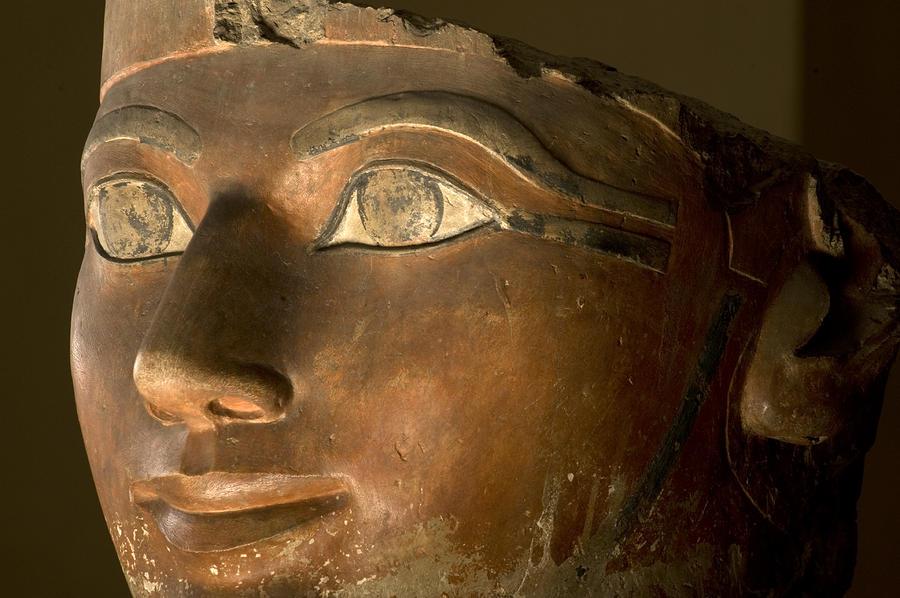 Osiris Statue Face Of Hatshepsut Photograph