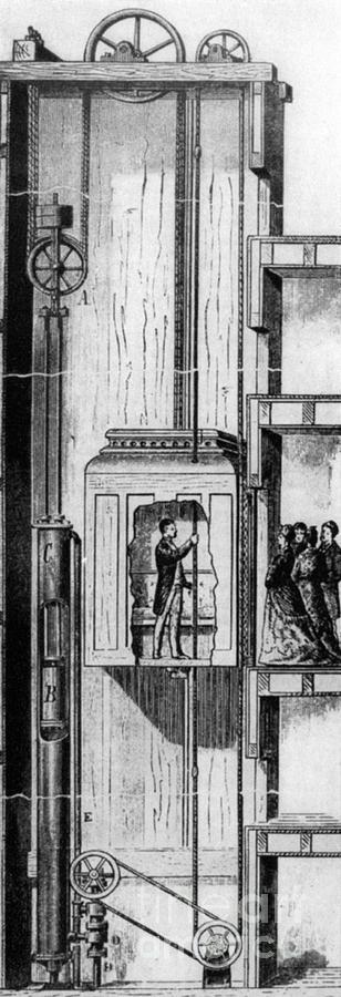 Otis Elevator, 1880 Photograph