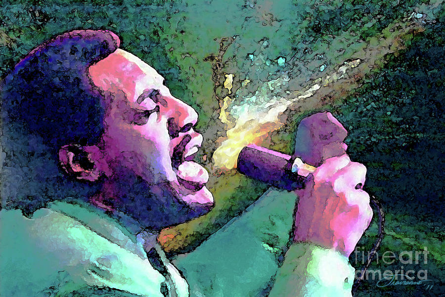 Otis Redding Painting  - Otis Redding Fine Art Print