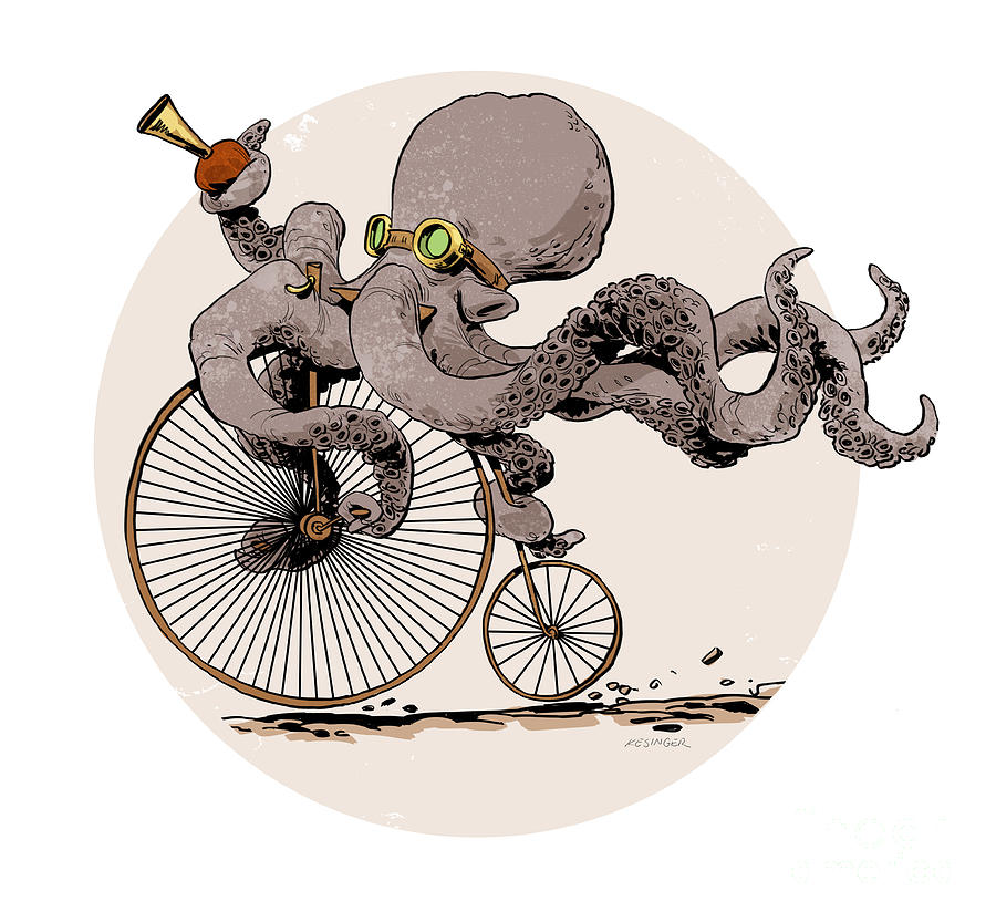 Ottos Sweet Ride Digital Art  - Ottos Sweet Ride Fine Art Print