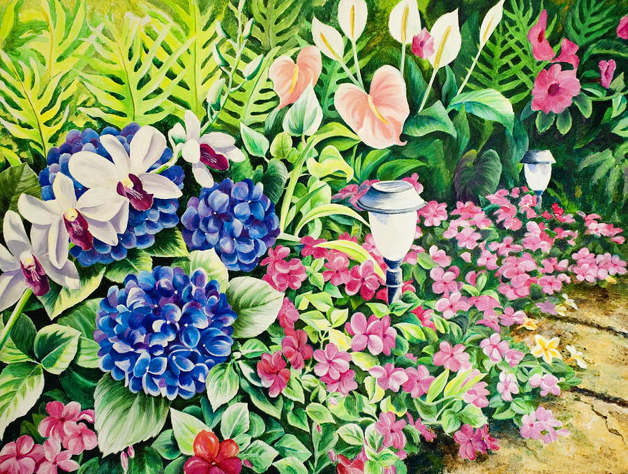 Our Garden Painting  - Our Garden Fine Art Print