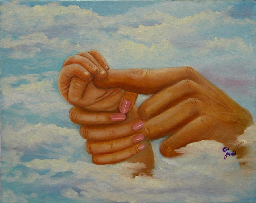 Our Hands Painting  - Our Hands Fine Art Print