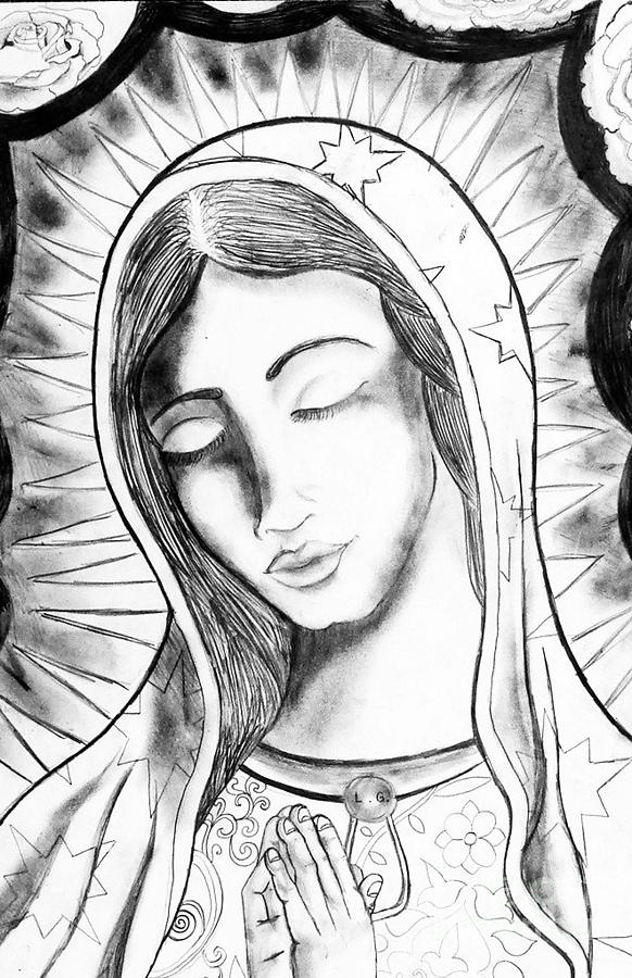 Our Lady Drawing  - Our Lady Fine Art Print