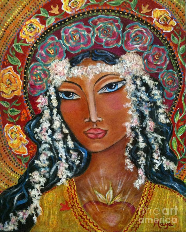 Sacred Art Painting - Our Lady Of Lost Causes by Maya Telford