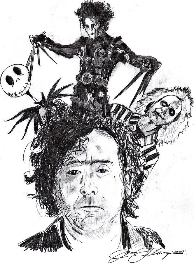 Out Of Tim Burton Drawing