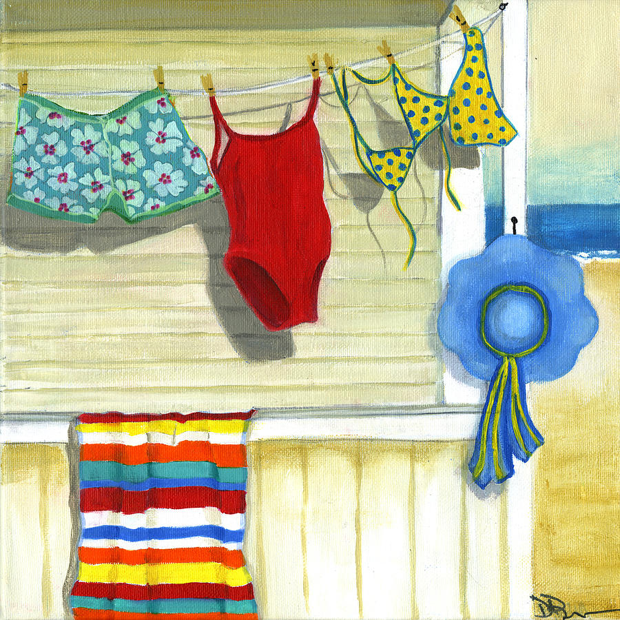 Out To Dry Painting  - Out To Dry Fine Art Print