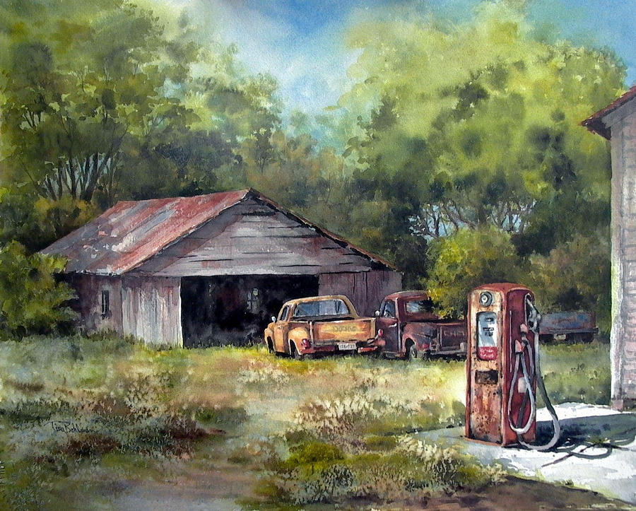 Outta Gas Painting  - Outta Gas Fine Art Print