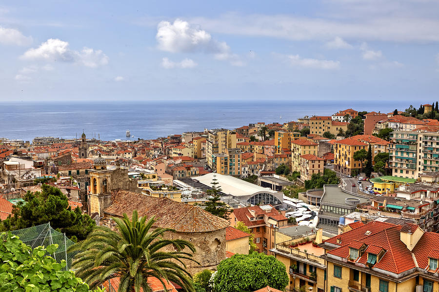 Over The Roofs Of Sanremo Photograph  - Over The Roofs Of Sanremo Fine Art Print