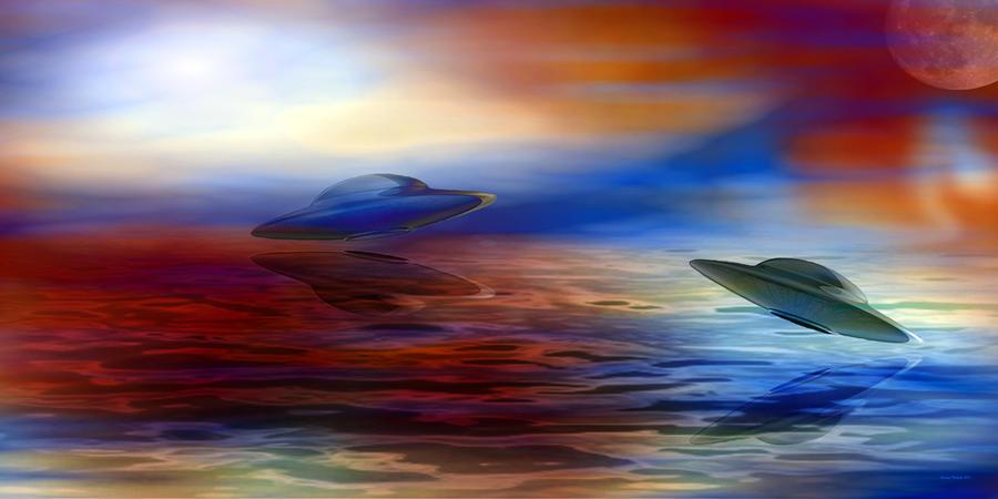 Over Water Digital Art