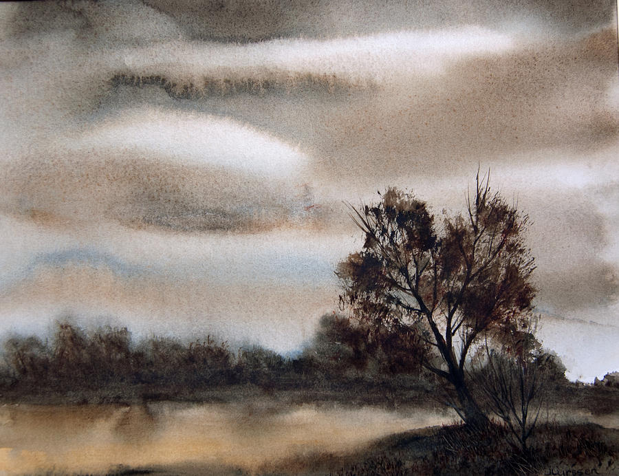 Overcast Morning Painting  - Overcast Morning Fine Art Print
