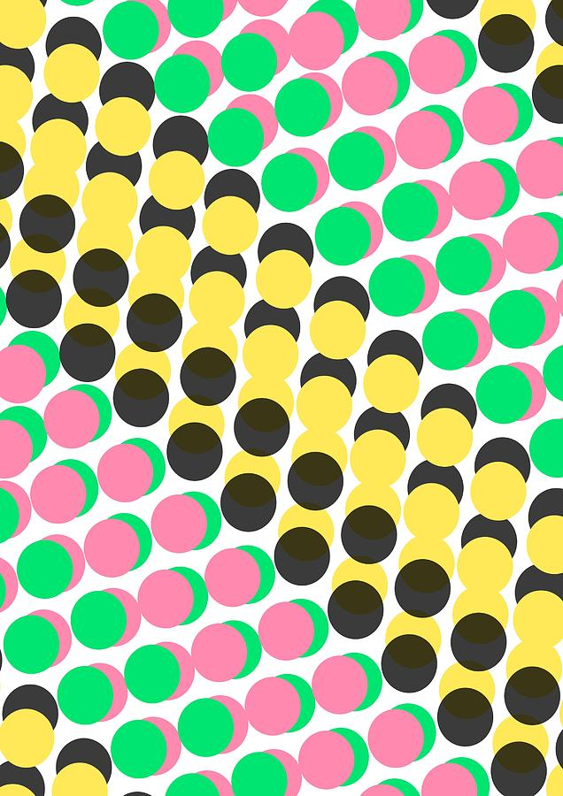 Overlayed Dots Digital Art