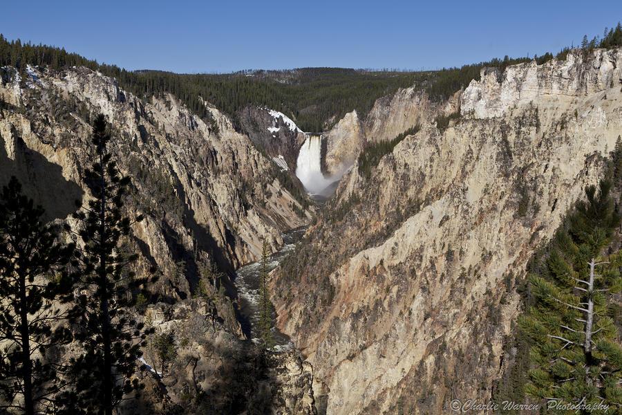 Falls Photograph - Overlook Falls by Charles Warren