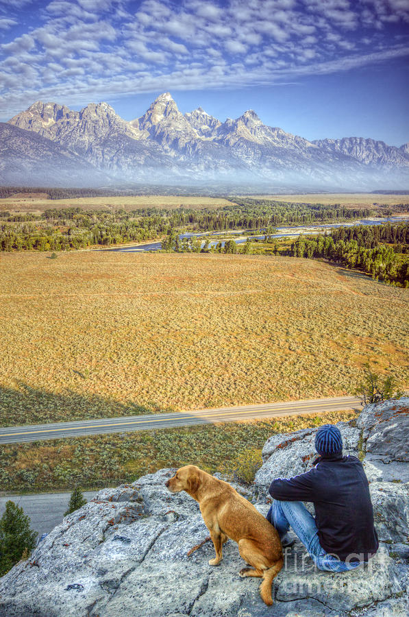 Overlooking The Grand Tetons Jackson Hole Photograph  - Overlooking The Grand Tetons Jackson Hole Fine Art Print