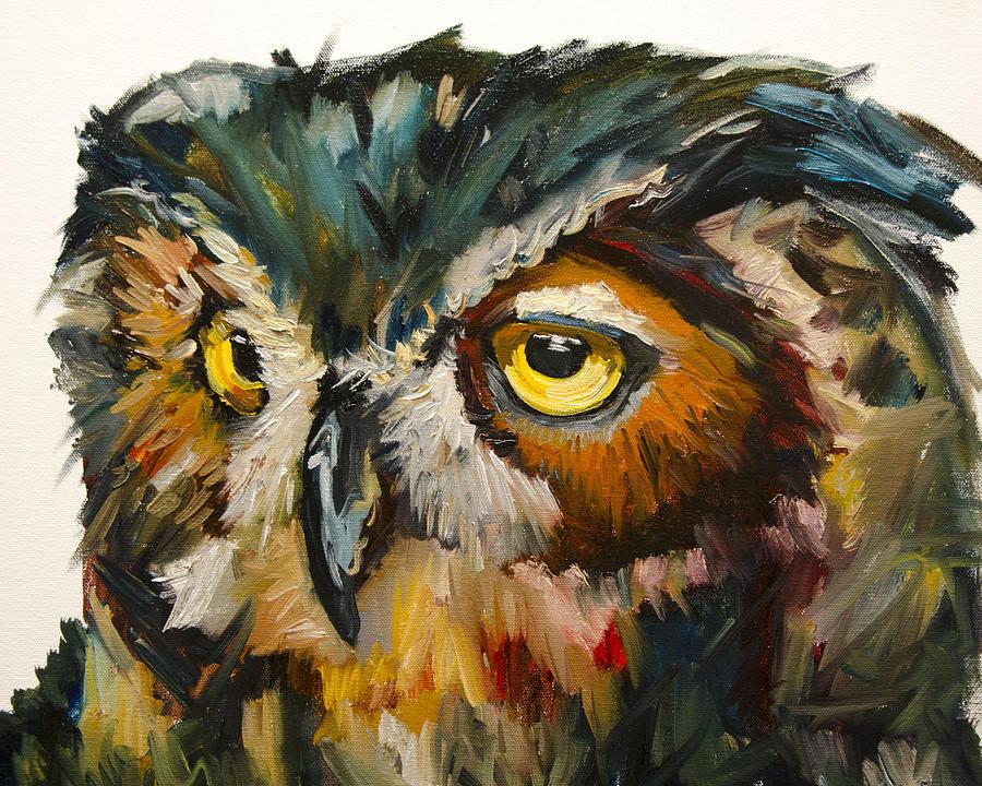 Owl Eyes Paintings Owl Eye Painting
