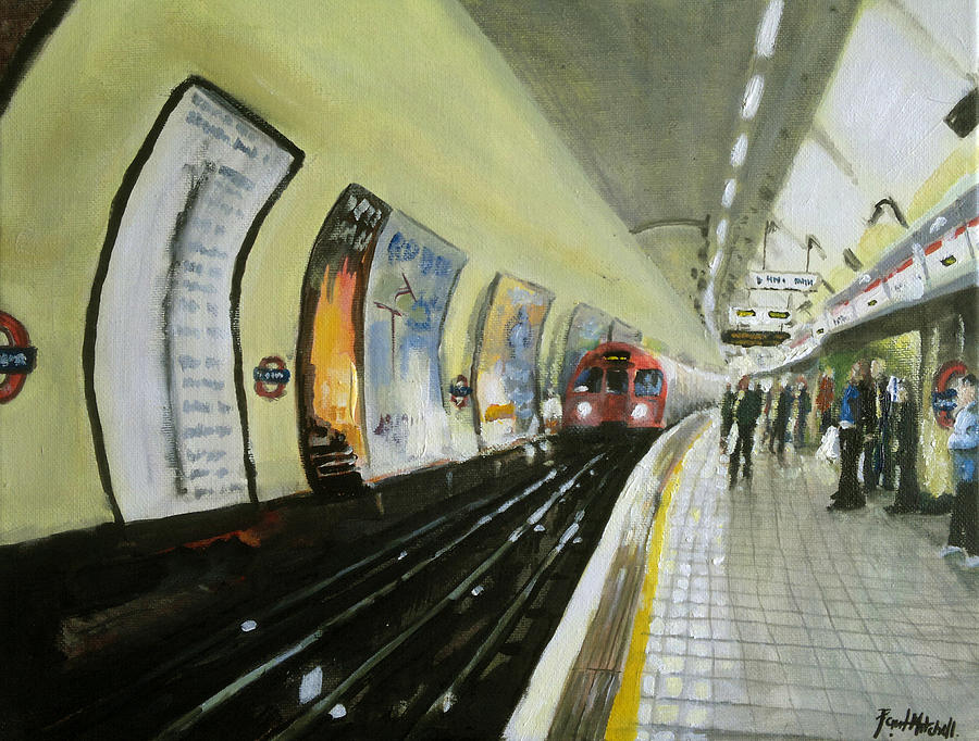 Oxford Circus Station Painting  - Oxford Circus Station Fine Art Print