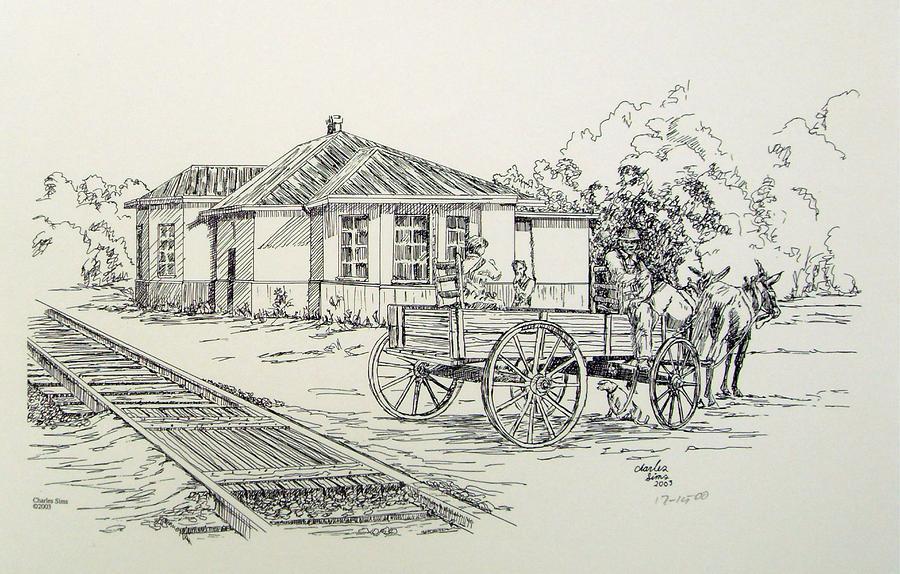 Ozark Depot Drawing