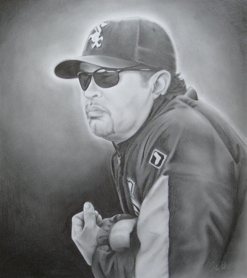 Ozzie Guillen Drawing  - Ozzie Guillen Fine Art Print