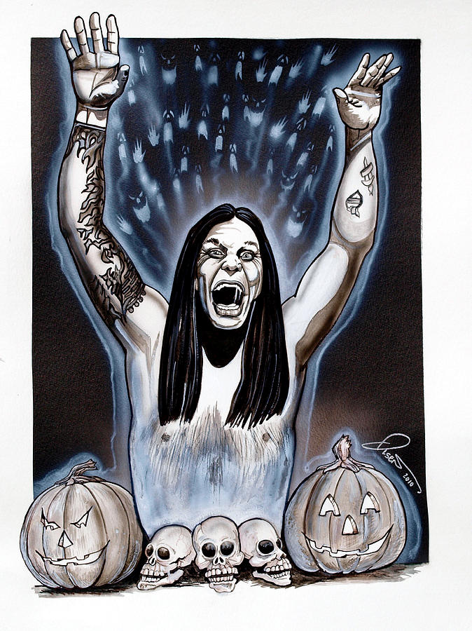 Ozzies Halloween Painting