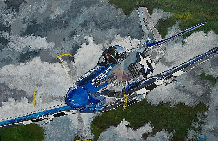 P 51 Mustang Art P-51 Mustang Over Germ...