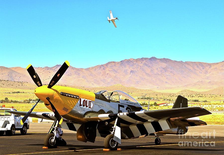 P51 Mustangs Lou Iv And Strega 2010 Reno Air Races Photograph
