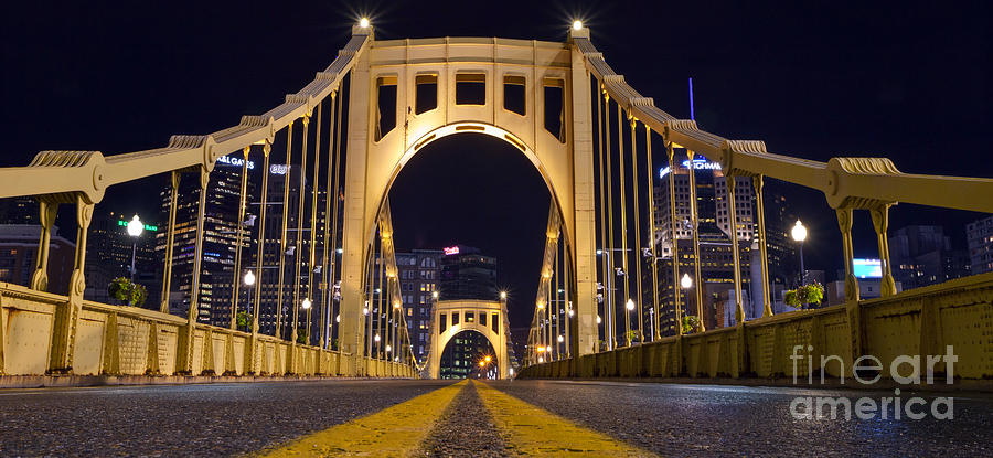 Pa0011 Roberto Clemente Bridge Pittsburgh Photograph  - Pa0011 Roberto Clemente Bridge Pittsburgh Fine Art Print