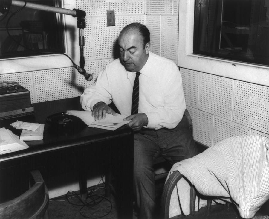 History Photograph - Pablo Neruda 1904-1973, Chilean Poet by Everett