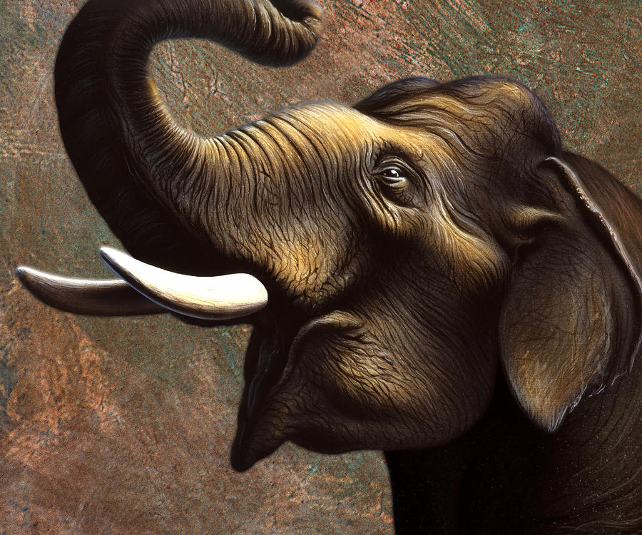 Pachyderm 1 Painting  - Pachyderm 1 Fine Art Print