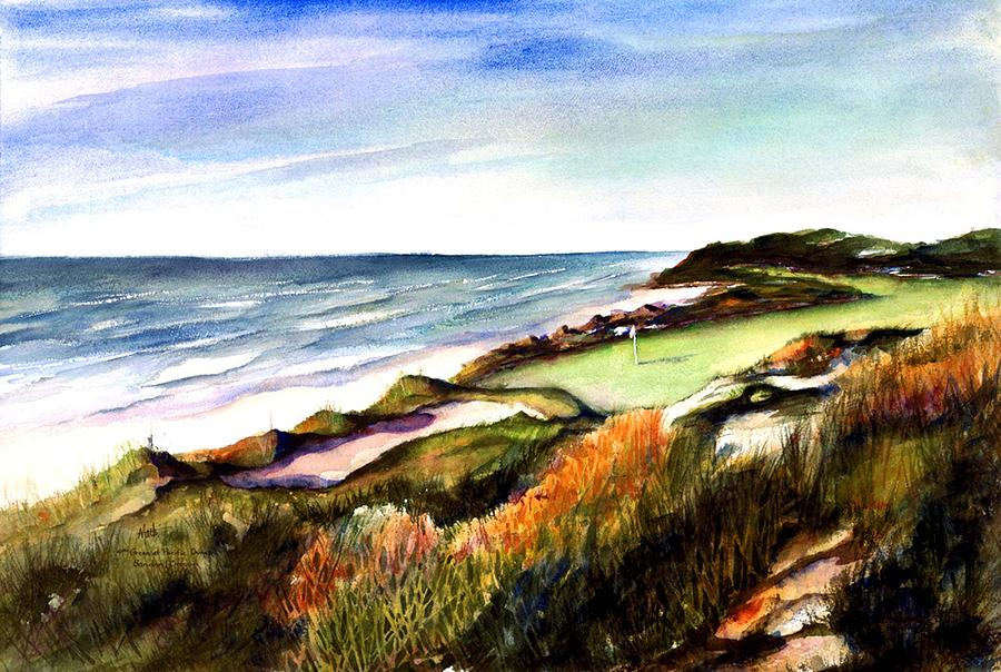 Pacific Dunes Golf Course Painting  - Pacific Dunes Golf Course Fine Art Print