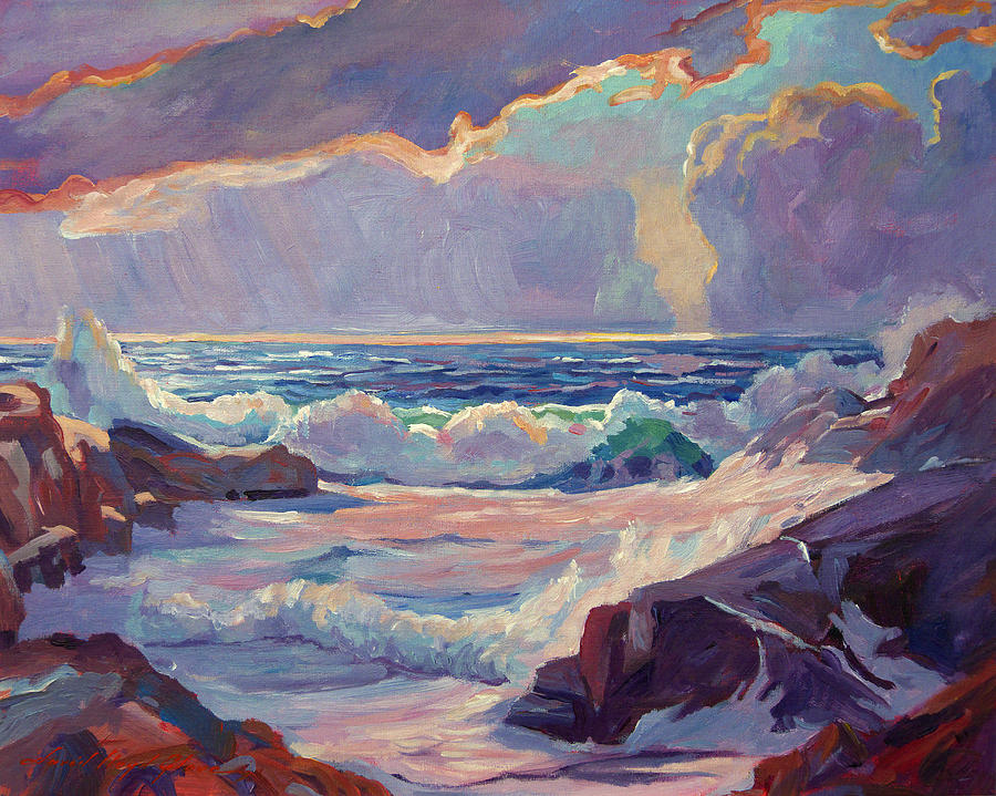 Seascapes Painting - Pacific Grove Winds by David Lloyd Glover