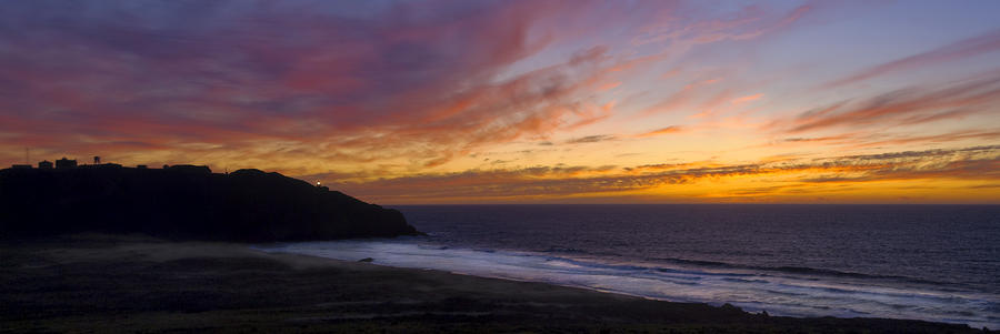 Pacific Sunset At Point Sur Photograph