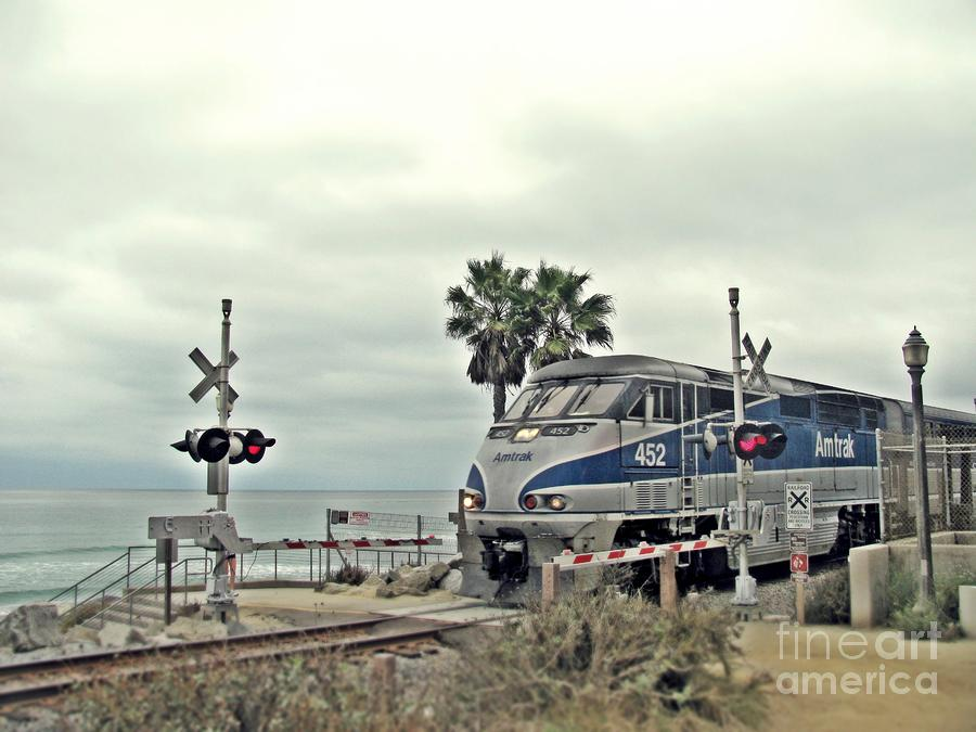 Pacific Surfliner Amtrak Train Photograph  - Pacific Surfliner Amtrak Train Fine Art Print