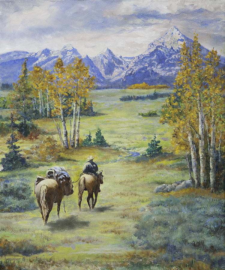 Pack Horse And Rider Painting by Ann Arensmeyer