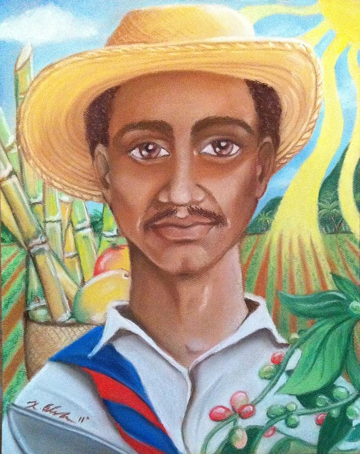 Farmer Pastel - Padre Tierra by Xiomara Aleksic