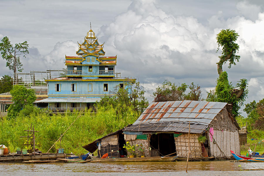 Pagoda And Floating House Photograph By David Freuthal