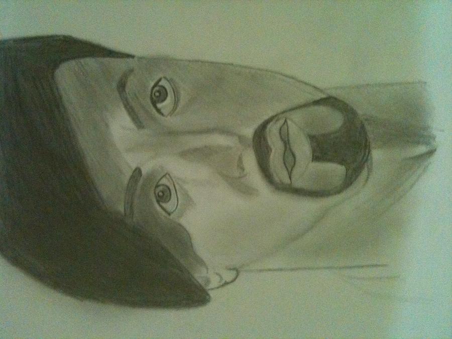 Act Drawing - Pain............ by Ashish Sharma