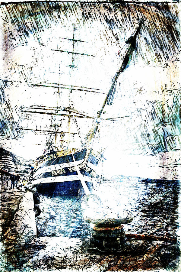 Painted Amerigo Vespucci Digital Art  - Painted Amerigo Vespucci Fine Art Print