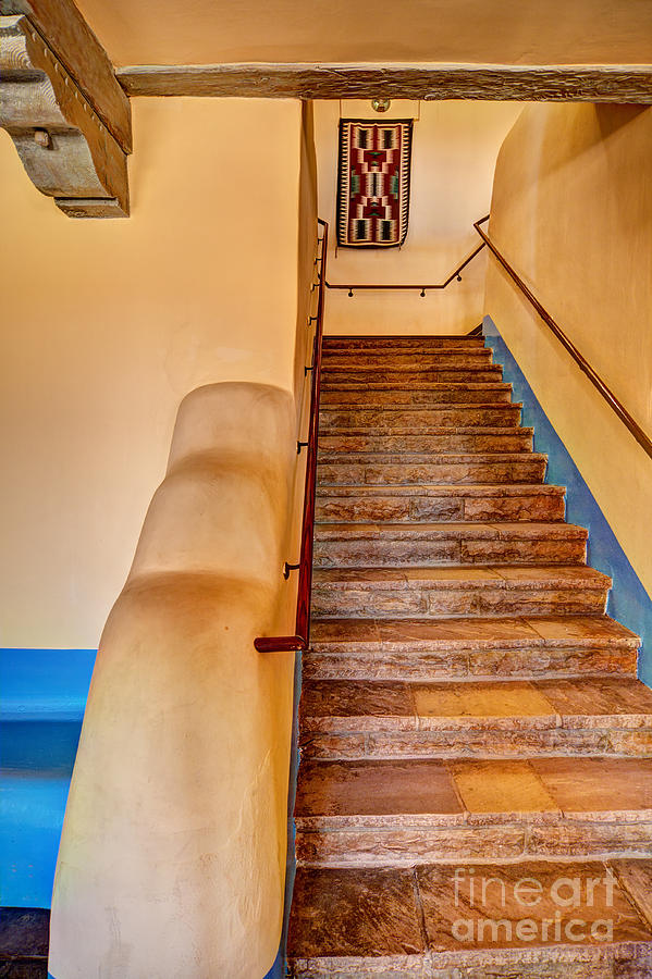 Painted Desert Inn Stairway Photograph