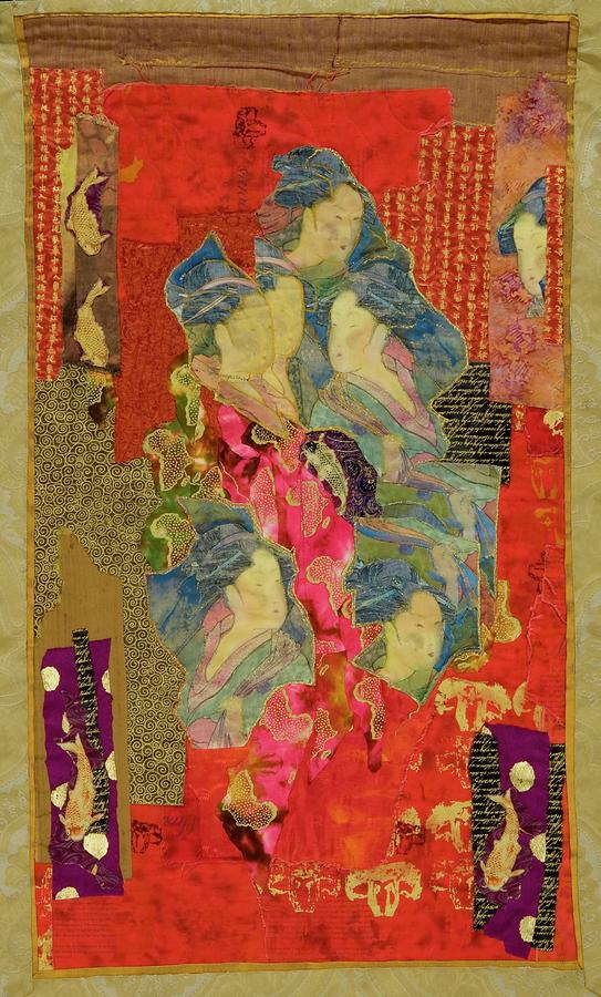 Painted Geisha Tapestry - Textile