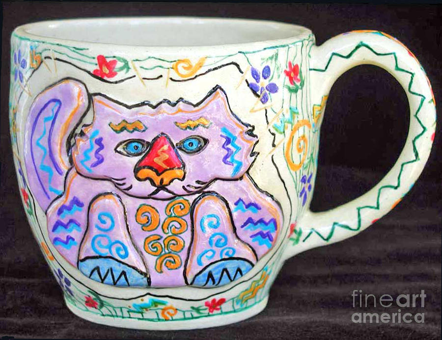 Painted Kitty Mug Photograph  - Painted Kitty Mug Fine Art Print