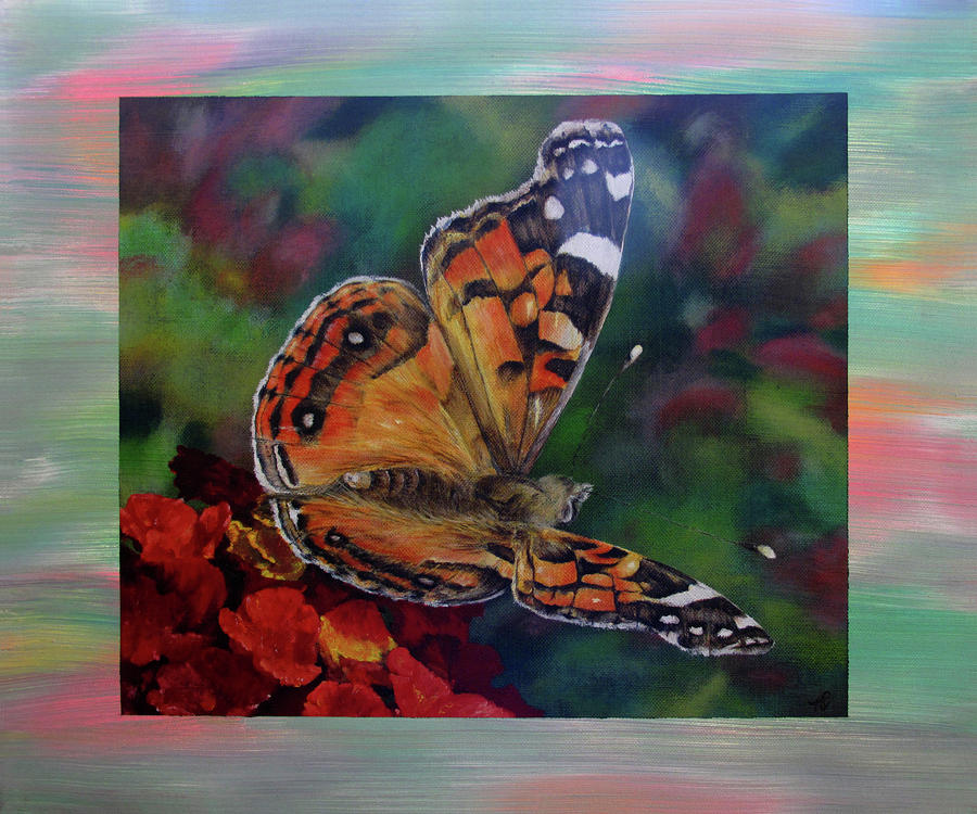 Painted Lady By Karen Peterson Painting  - Painted Lady By Karen Peterson Fine Art Print