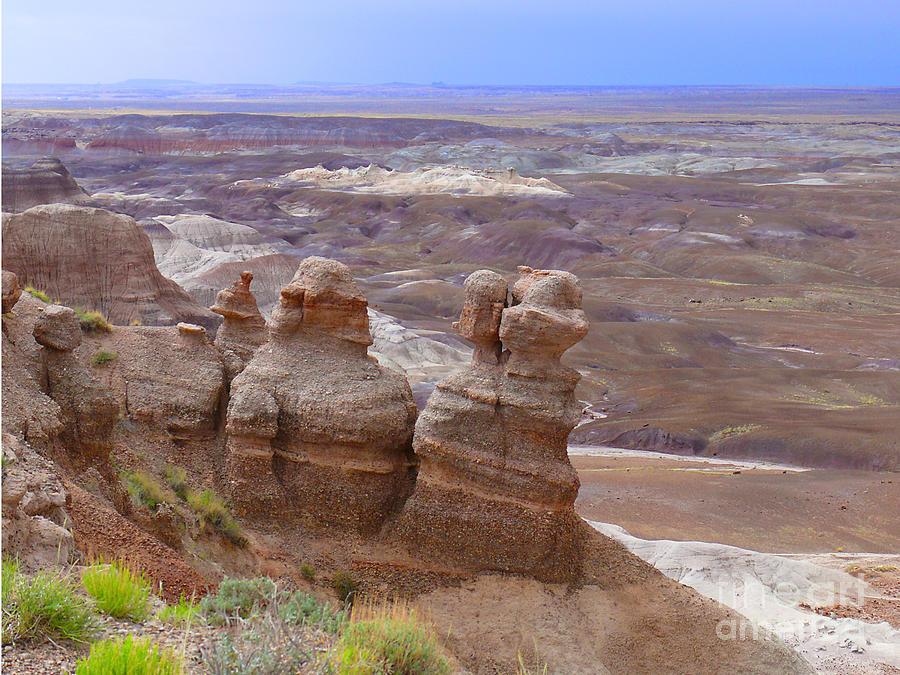 Painted Landscape Photograph