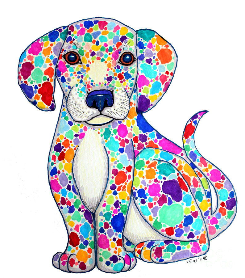 Painted Puppy Drawing