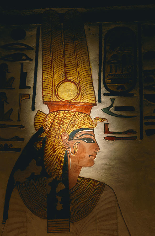 Painted Relief, Nefertari Tomb, Valley Photograph