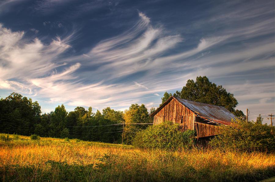 Painted Sky Barn Photograph