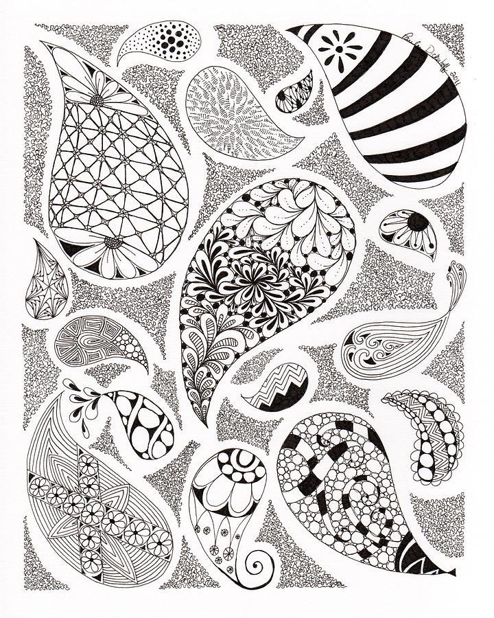 Paisley Print Drawing